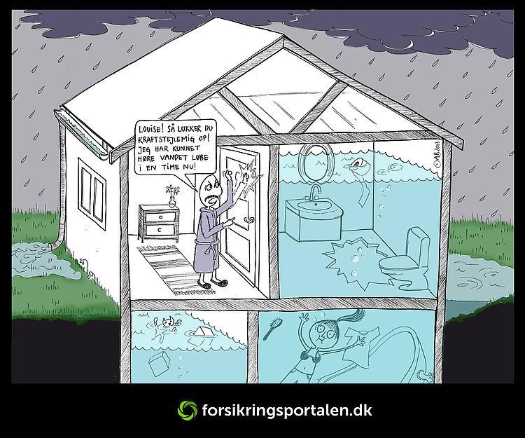 Kun hvert 5.danske hus er sikret mod skybrud. Har du dit på det tørre? Forsikringsportalen.dk